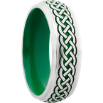 Lashbrook Designs CC7DGE_LCVCELTIC9+ANGLE+SATIN_POLISH+GREENINANDOUT