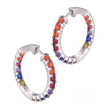 Rainbow Small Hoops
