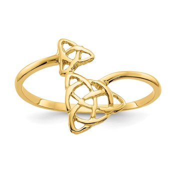14k Polished Celtic Knot Ring