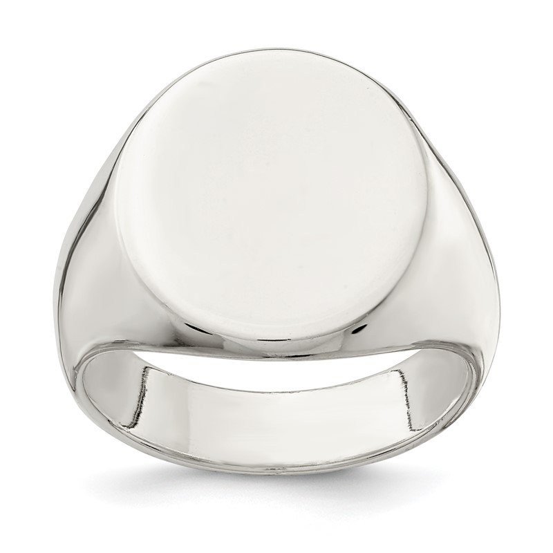 Quality Gold Sterling Silver 19x16mm Closed Back Signet Ring