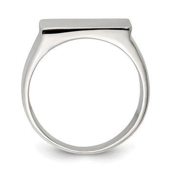 Sterling Silver 19x16mm Closed Back Signet Ring