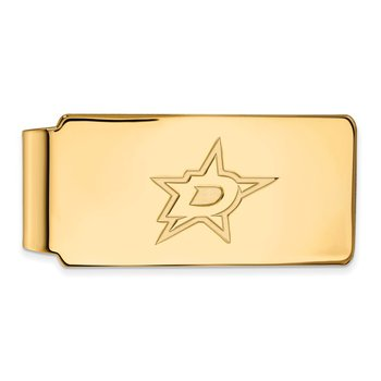 Gold-Plated Sterling Silver Dallas Stars NHL Money Clip