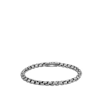 5MM Box Chain Bracelet in Silver