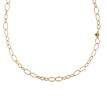 18Kt Yellow Gold Long Link Necklace