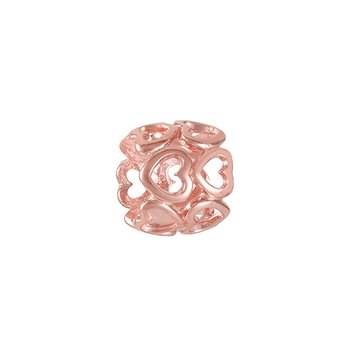 CHAMILIA BLUSH DELICATE HEARTS SPACER