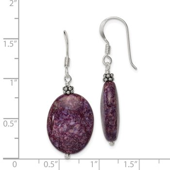 Sterling Silver Dark Charoite Earrings