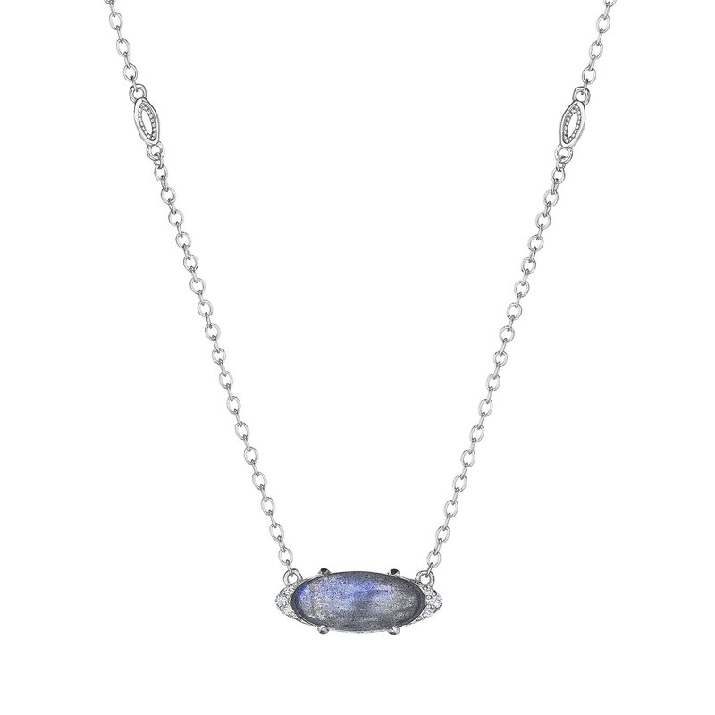 Tacori Fashion Solitaire Oval Gem Necklace with Labradorite