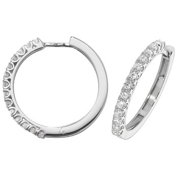 Diamond Hoop Earrings 22mm