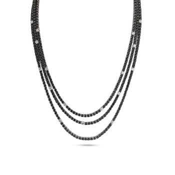 18KT GOLD NECKLACE WITH DIAMONDS AND SAPPHIRES