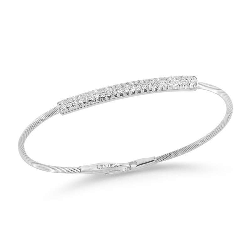 I. Reiss 14K-W SUPER FLEX WIRE BR., 0.40CT