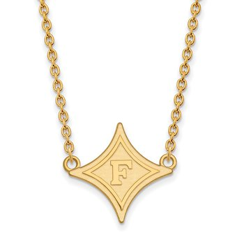 Gold-Plated Sterling Silver Furman University NCAA Necklace