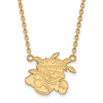 Gold Wichita State University NCAA Necklace