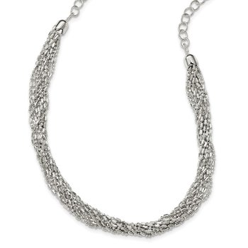 Sterling Silver Twisted Multi-Strand Necklace