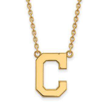Gold-Plated Sterling Silver Cleveland Indians MLB Necklace