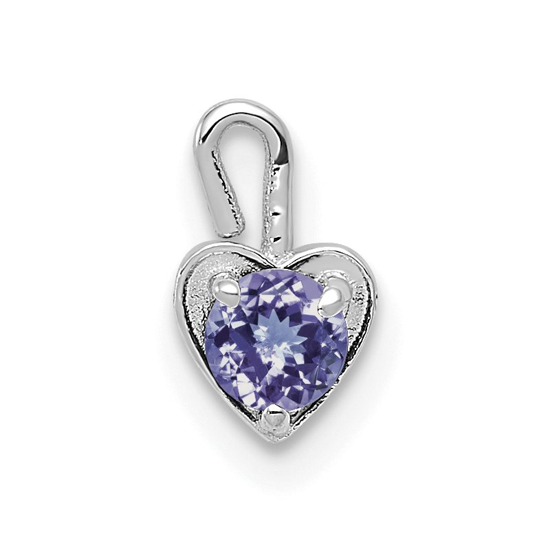 Quality Gold 14k White Gold June Synthetic Birthstone Heart Charm