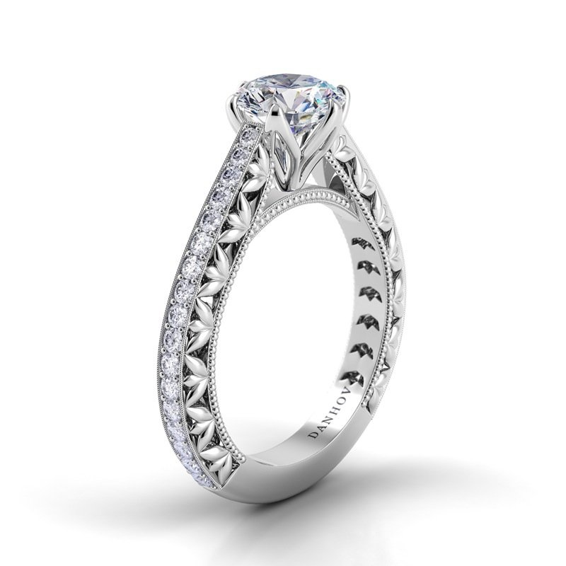 Danhov Petalo Single Shank Engagement Ring
