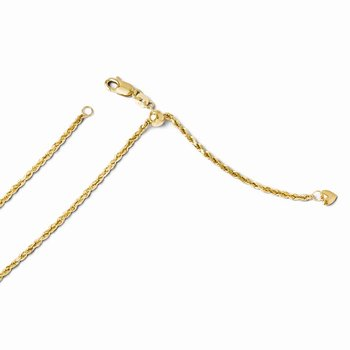 Leslie's 14K 2 mm Semi Solid Adjustable Rope Chain