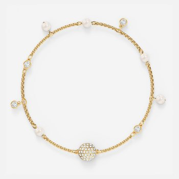 Swarovski Remix Collection Delicate Pearl Strand, White, Gold-tone plated