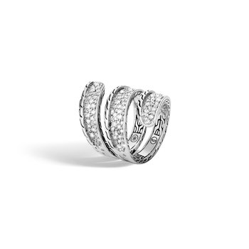 Classic Chain Ring in Silver with Diamond