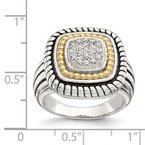 Shey Couture Sterling Silver w/14k Diamond Ring