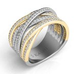 S. Kashi  & Sons Yellow & White Gold Pave Ring