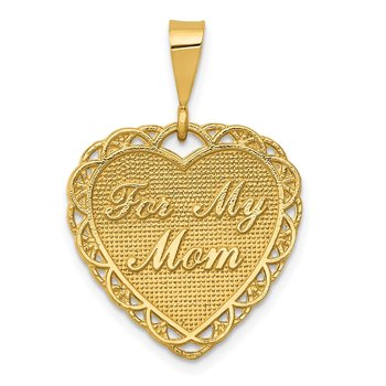 14k Reversible FOR MY MOM Charm