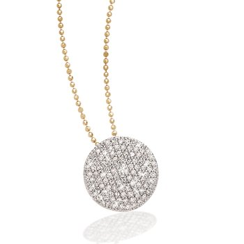 Yellow gold diamond Infinity necklace