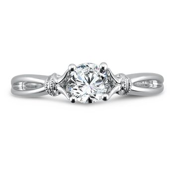 Inspired Vintage Collection Solitaire Engagement Ring in 14K White Gold with Platinum Head (5/8ct. tw.)