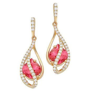 Padparadscha Earrings-CE4140YPD