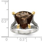 Shey Couture Sterling Silver w/14k Smoky Quartz Ring