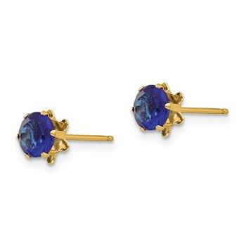 14k Madi K 5mm Synthetic (Sep) Earrings