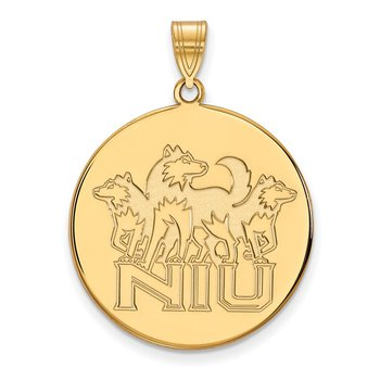 Gold Northern Illinois University NCAA Pendant