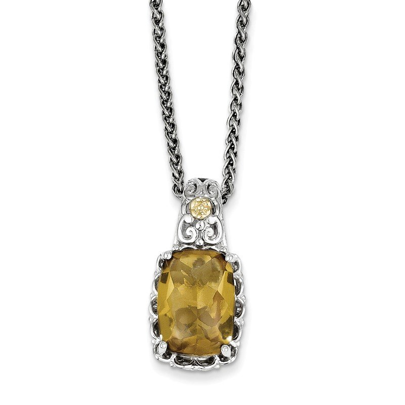 Shey Couture Sterling Silver w/14k Whiskey Quartz Necklace