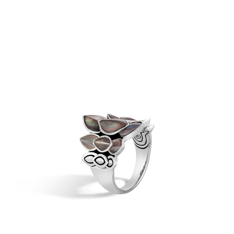 JOHN HARDY Legends Naga Saddle Ring in Silver with Gemstone