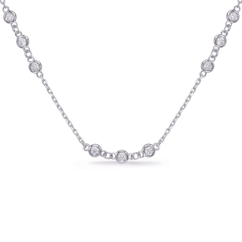 S. Kashi  & Sons Diamond By Yard Necklace