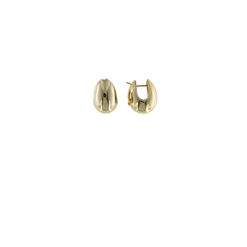 18KT GOLD WIDE TEARDROP EARRING