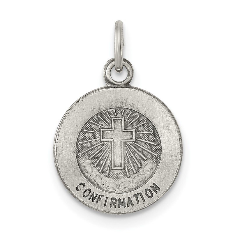 J.F. Kruse Signature Collection Sterling Silver Antiqued Confirmation Medal