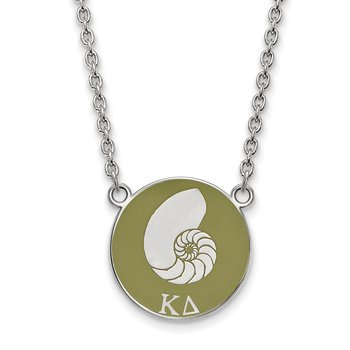 Sterling Silver Kappa Delta Greek Life Necklace