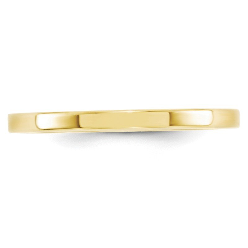 Quality Gold 10KY 2mm Standard Flat Comfort Fit Band Size 10