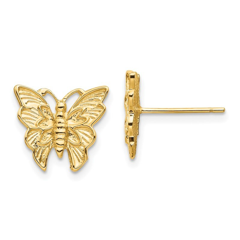 Quality Gold 14K Polished Butterfly Post Earrings