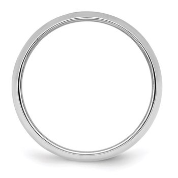 Sterling Silver Rhodium-plated 6mm Half-Round Band