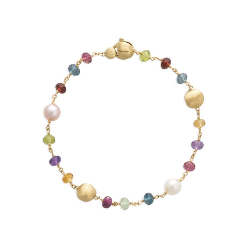 Marco Bicego Africa Gemstone and Pearl Single Strand Bracelet