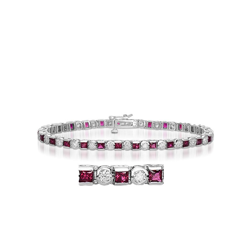 S. Kashi  & Sons Ruby & Diamond Bracelet