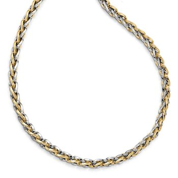 Leslie's 14K Two-tone Polished Fancy Link Necklace