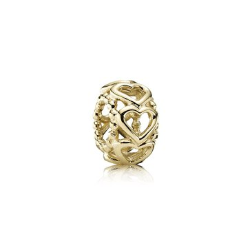 Lucky In Love Heart Spacer, 14K Gold