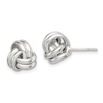 Sterling Silver Love Knot Post Earrings