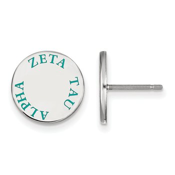 Sterling Silver Zeta Tau Alpha Greek Life Earrings