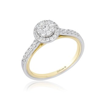 14KWY 1/2CTW Jasmine Composite Bridal Ring