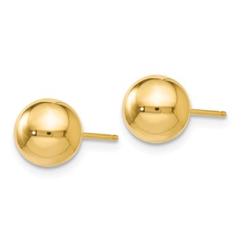 Leslie's 14K Polished 7mm Ball Post Earrings