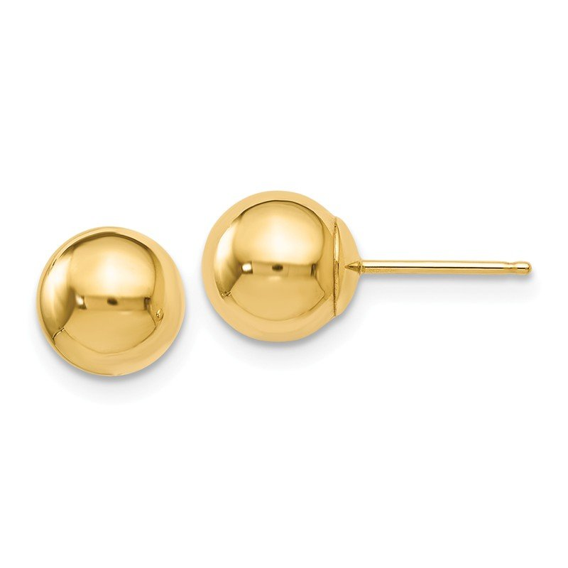Leslie's Italian Gold Leslie's 14K Polished 7mm Ball Post Earrings